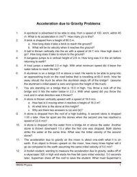 Calculating Acceleration Worksheet. Worksheets ...