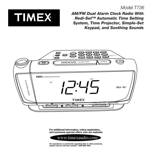 T736 User Manual Timex Audio