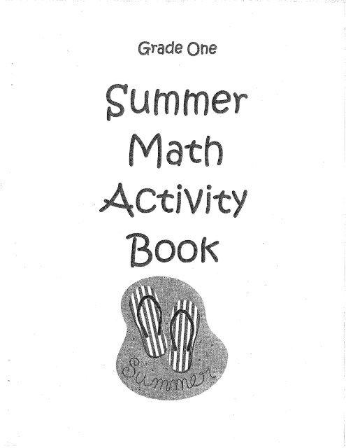 Summer Math Packet for 1st Grade