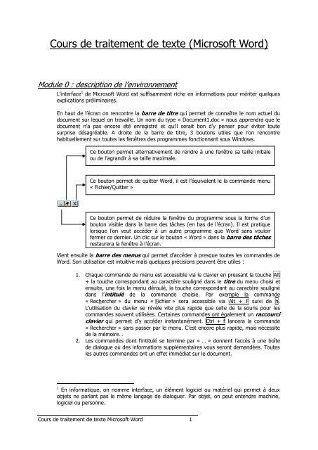 Commande En Cours De Traitement : commande, cours, traitement, Cours, Traitement, Texte, Enseignons.be