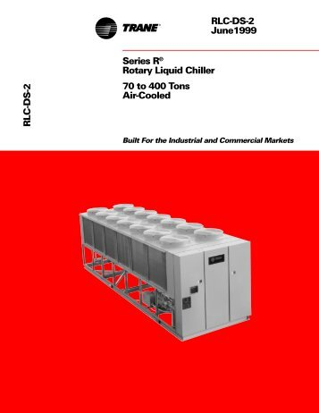 trane series e centravac 1993 chevy truck radio wiring diagram water-cooled chiller model rthb brochure rlc-ds-1