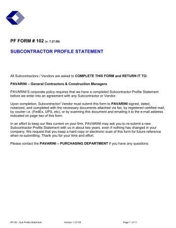 subcontractor prequalification form  Nosal Builders Inc