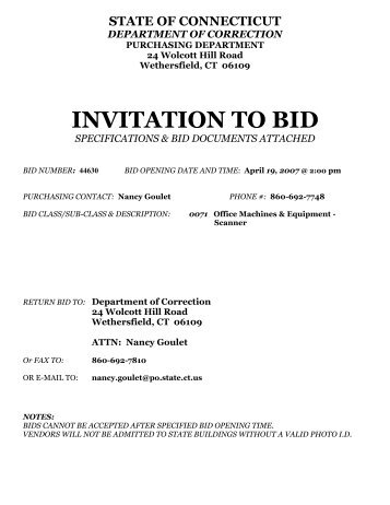 what is an invitation to bid inviview co