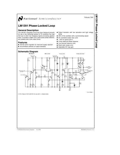 LM1391 Phase-Locked Loop