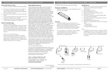 Lutron Ecosystem Wiring Diagram Lutron Ballast LED Wiring