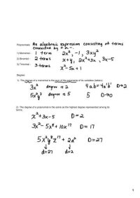 Dividing Monomials With Negative Exponents Worksheet With ...