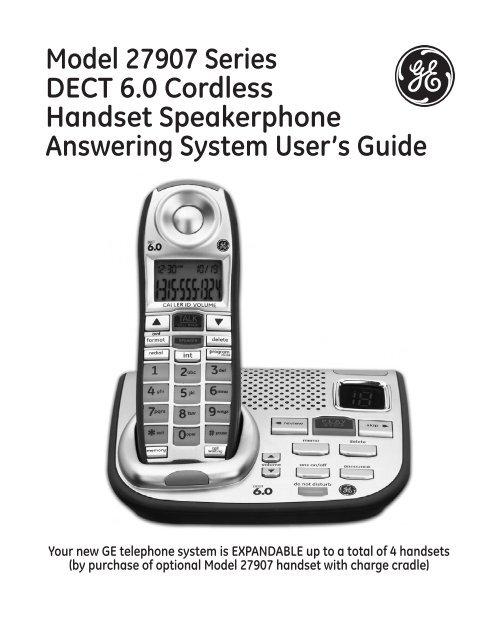 Bestseller: Ge Phone Dect 60 Manual