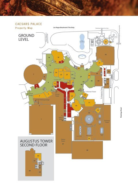 Caesars Palace Map : caesars, palace, AUGUSTUS, TOWER, SECOND, FLOOR, GROUND, LEVEL, Imedex