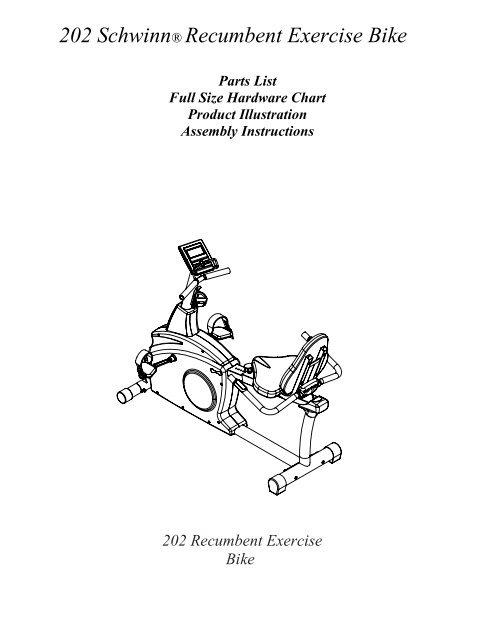 Schwinn 202 Recumbent Bike : schwinn, recumbent, Schwinn, Recumbent, Exercise, Nautilus