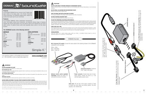 installation instructions  sonic electronix