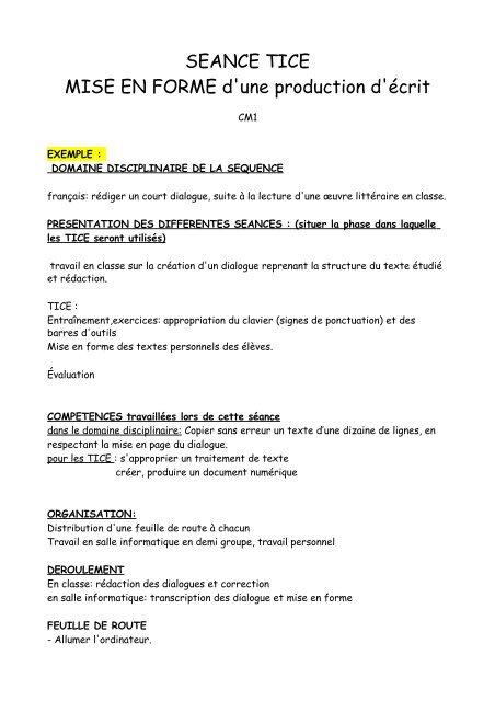 Mise En Page D'un Dialogue : dialogue, SEANCE, FORME, D'une, Production, Sannois