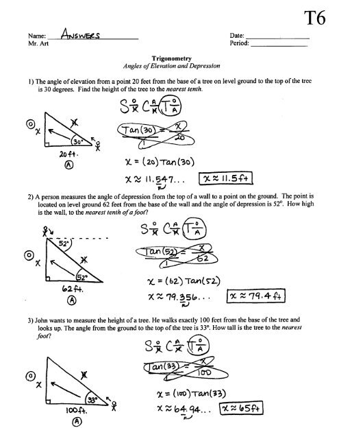 Angle Of Elevation And Depression Worksheet Answers With Work : angle, elevation, depression, worksheet, answers, Angle, Elevation, Depression, Worksheet, Answers, Promotiontablecovers