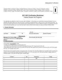 Fafsa Independent Verification Worksheet. Worksheets ...
