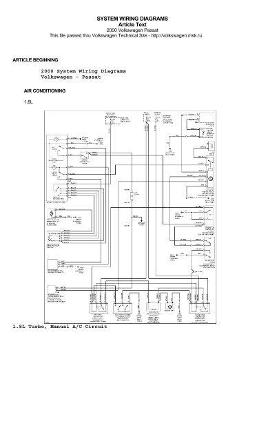 2003 vw passat wiring diagram  filter wiring diagrams note