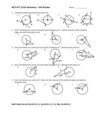 Circle Geometry Worksheets Free Worksheets Library ...