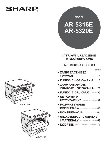 SHARP AR 5320E SERVICE MANUAL DOWNLOAD