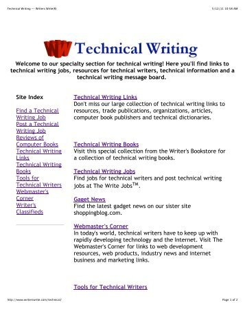 Technical Writer - Sample Interview Questions
