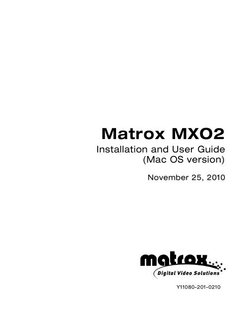 Matrox MXO2 Installation and User Guide.pdf