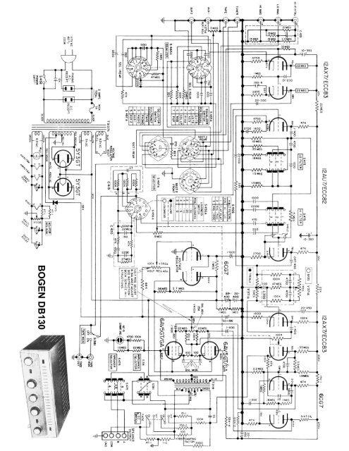 bogen db130 mono integrated hi-fi amplifier schematic