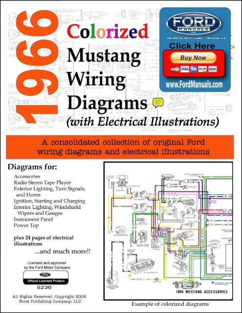 1966 mustang colorized wiring diagram ford for sale online wiring
