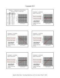 Scatter Plot Worksheet For questions 1-3 a. Identify the ...