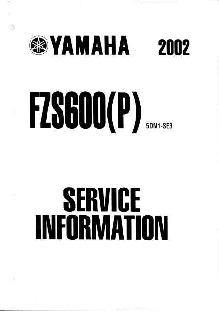 Page 1 YAMAHA znnz flS|î|lll(P) SERVICE INFURMATIUN Page 2