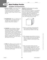 All Worksheets  Glencoe Mcgraw Hill Science Worksheets ...