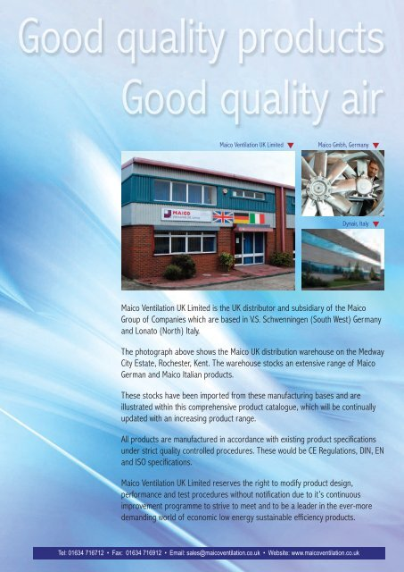 maico ventilation uk limited is the uk