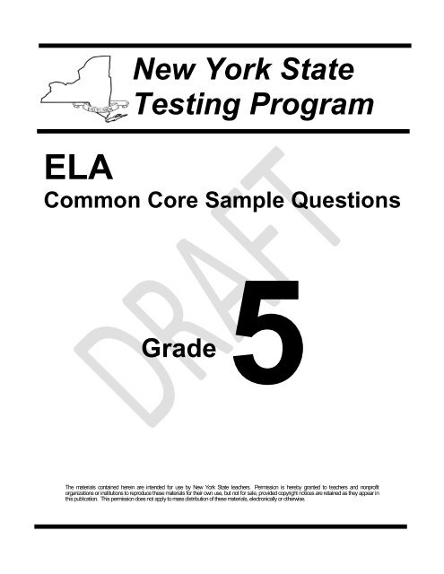 Bestseller: Ready New York Ccls Answers Grade 5