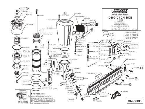 Duo-Fast CN-350B schematic (D30010)