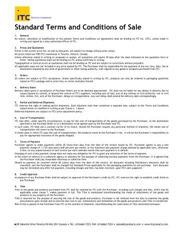 Standard Terms And Conditions Of Sale Prices  Cps Products