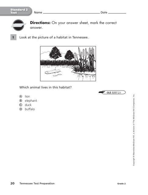 Name Date Standard 1 Test