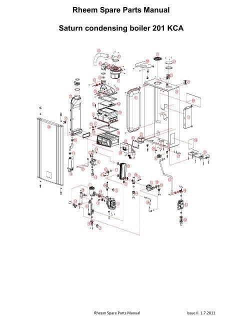 Rheem Spare Parts Manual Saturn condensing boiler 201 KCA