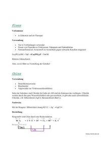 Gruppeneigenschaften der Halogene Fluor (F) Chlor (Cl ...