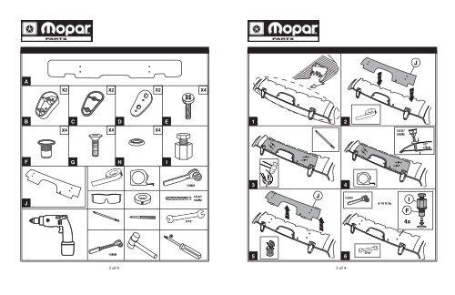 Jeep Liberty Rear Air Deflector Installation Instructions