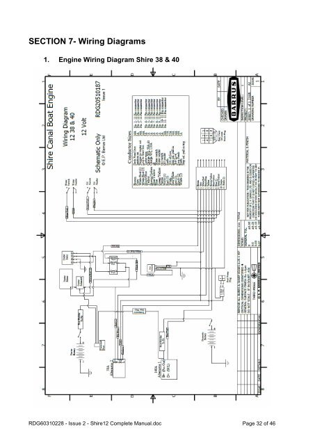 Canal Boat Wiring Diagram