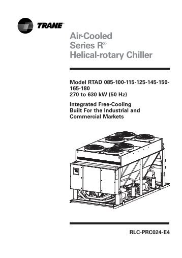 Trane Water-Cooled Chiller Model RTHB Brochure RLC-DS-1