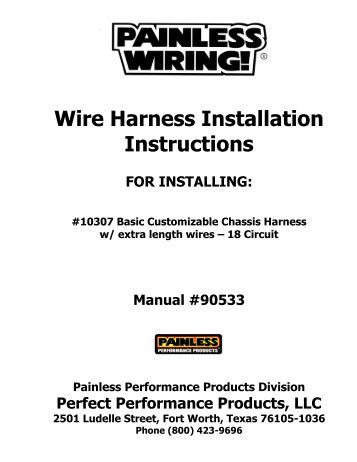 painless wiring harness diagram - Wiring Diagram