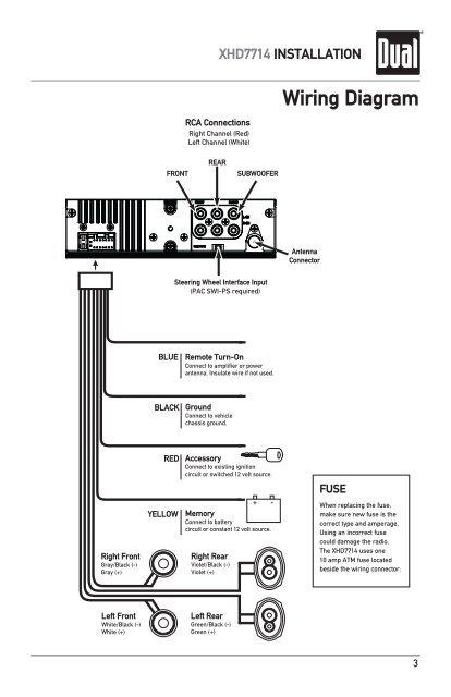 File: Dual Radio Wiring Diagram Model 7650