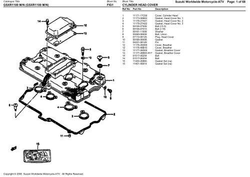 Suzuki Worldwide Motorcycle-ATV Page: 1 of 68 GSXR1100 M/N