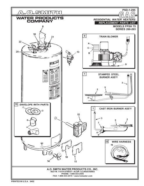 [DIAGRAM] Ao Smith Water Heater Wiring Diagram FULL