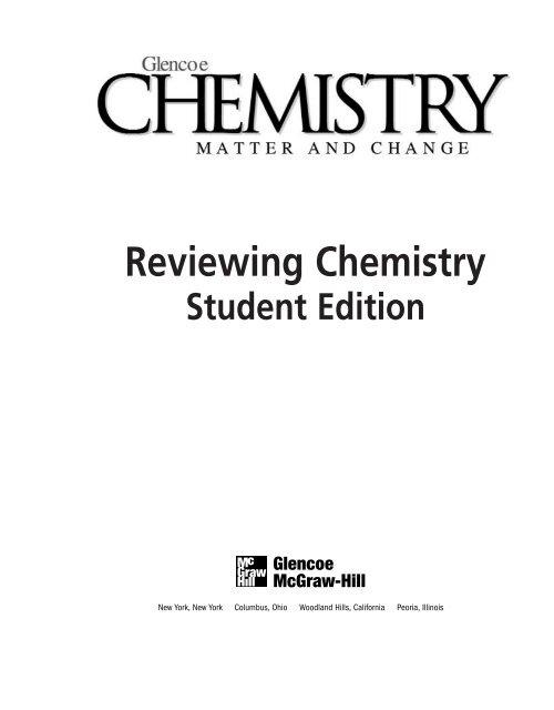 Bestseller: Glencoe Chemistry Matter Change Answer Key