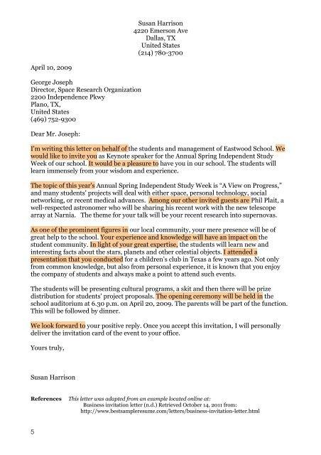 Business Invitation Letter Years Headinnovation Co