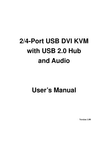 4-Port Essential Sentinel VGA KVM & USB Hub User's Manual