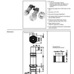 Danfoss Pressure Transmitter Mbs 3000 Wiring Diagram Tracing Panel Of An Alternator Data Sheet Pressu Transmitters With Flush Diaphragm Type 4510