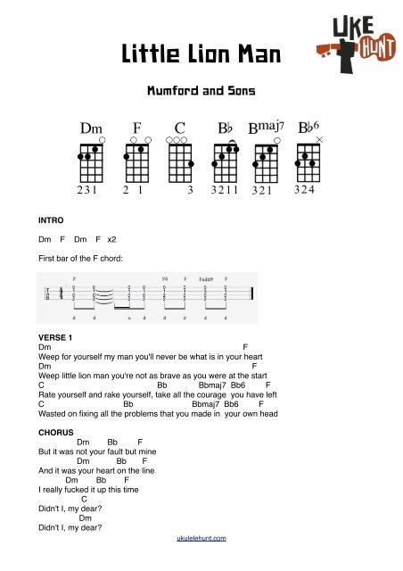Little Lion Man Ukulele Chords : little, ukulele, chords, Little, (Chords), Ukulele