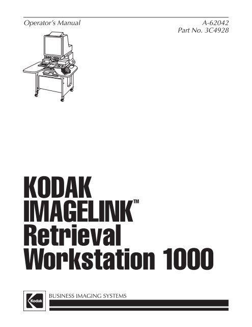 Kodak 8100 Service Manual