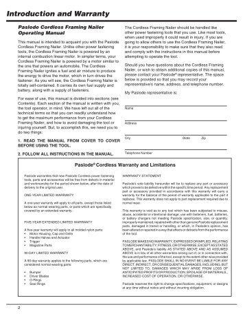 paslode cordless framing nailer manual | Siteframes.co