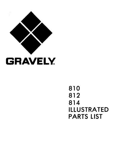 810 812 814 Illustrated Parts List (Oct 15, 1973