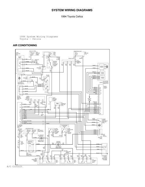 Wiring Diagram PDF: 2002 Toyota Celica Wiring Diagram